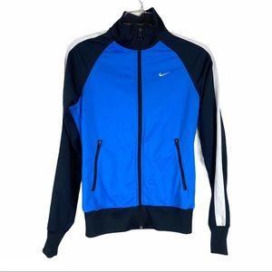 Nike Blue Stripe Track Jacket Athletic Dept S
